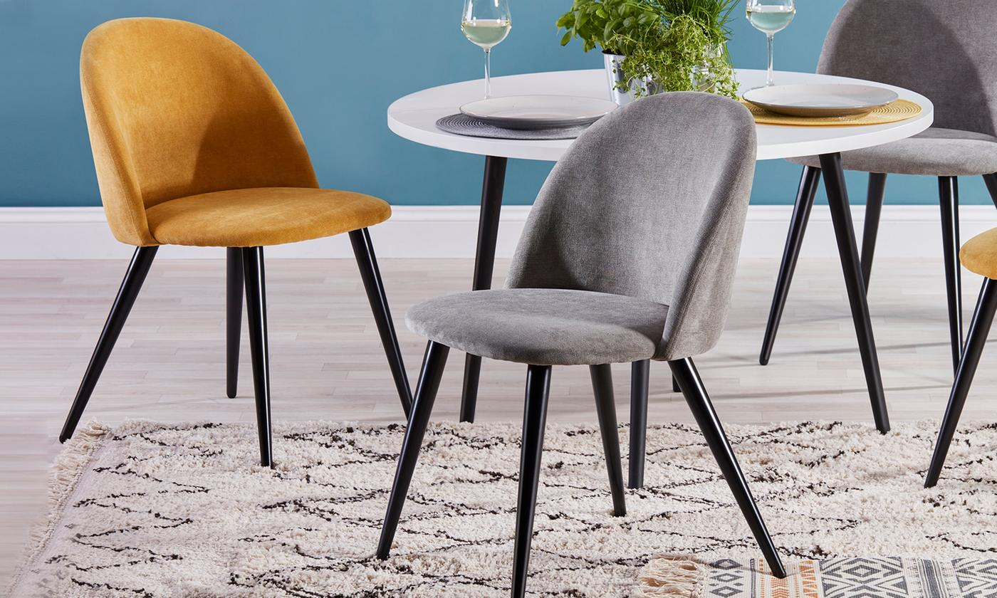 Set of Two or Four Soft Dining Chairs