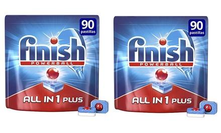 Hasta 360 pastillas para lavavajillas Finish All in 1