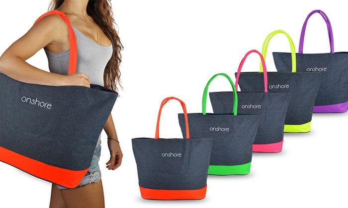 Borse Da Mare In Pvc : Borsa da mare jeans onshore groupon goods