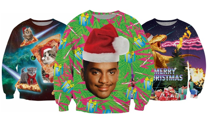 Uniseks Kersttrui.Unisex Christmas Jumper Groupon Goods
