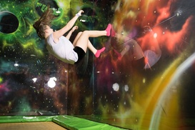Flip Out: One-Hour Indoor Trampoline Session for One or Two at Flip Out (Up to 50% Off)