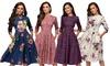 3/4 Sleeve Vintage Style Dress