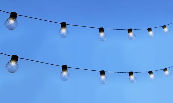 String Lights Vistaprint : Outdoor Bistro Solar-Powered Globe String Lights Groupon