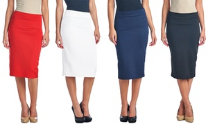 Women's Premium Shaping Solid Pencil Skirt at Women's Premium Shaping Solid Pencil Skirt, plus 6.0% Cash Back from Ebates.
