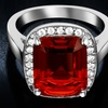 2.55 CTW Ruby Spinel Emerald Cut Ring