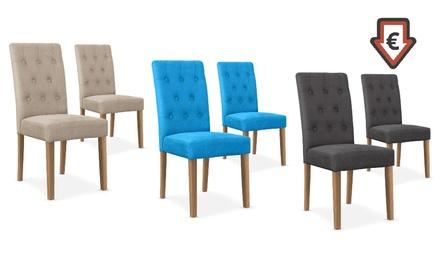 Lot de 2 chaises Cecill, coloris au choix