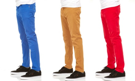 Vertical Sport Men's Stretched Slim-Fit Chino Pants
