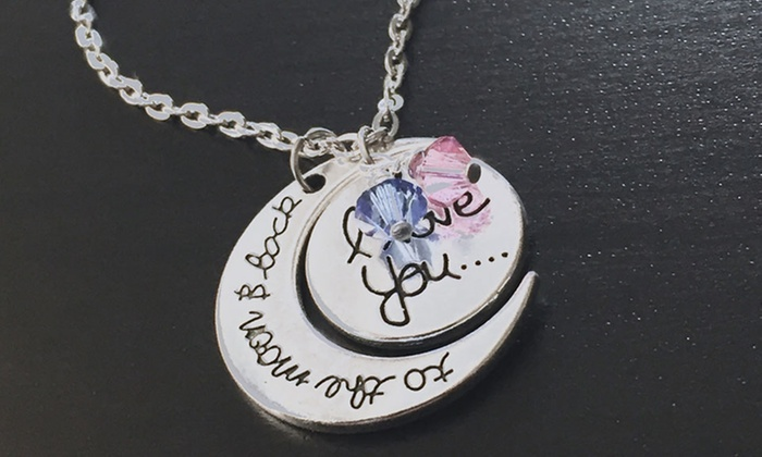 I love you to the moon and back pendant groupon i love you to the moon and back pendant mozeypictures Images