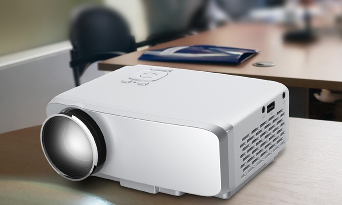 Aduro VP20 800-Lumen Portable Multimedia LED Projector with HDMI, VGA and SD Card Inputs
