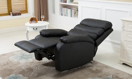 Sillón extra acolchado reclinable con masaje y calor lumbar