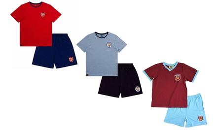 Men's Officially Licensed Football Short Pyjama Set