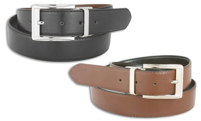 Men's Reversible Black and Brown Belts (2-Pack)