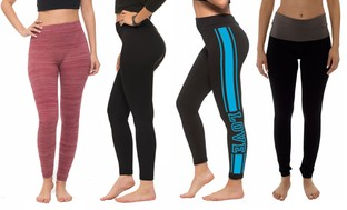 Coco Limon Women's Assorted Leggings (4-Pack)