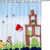 Angry Birds Shower Curtain or Shower Curtain Hooks