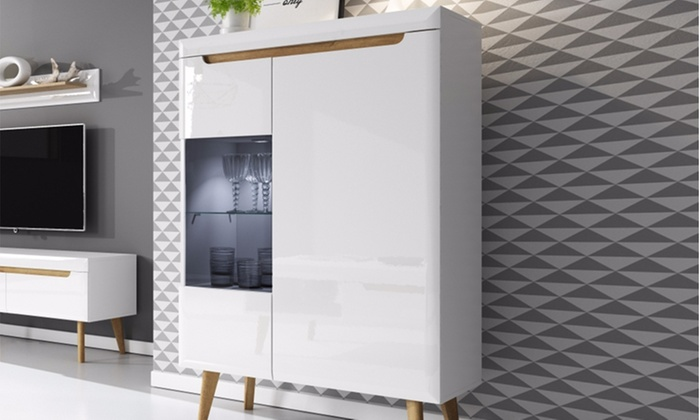 Ensemble tv scandinave selsey groupon for Meuble tv mural groupon