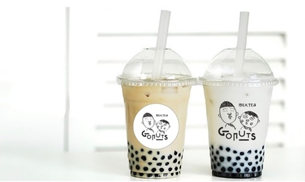 One, Two or Four Bubble Teas at Gonuts (27% Off)