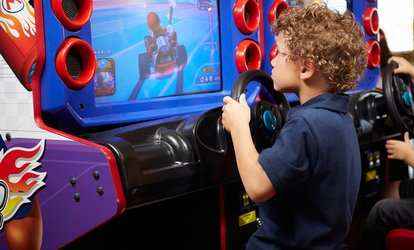 $5 Game Cards and Buffet Meals for Two, Four, or Six at Family Fun Center XL (Up to 54% Off)
