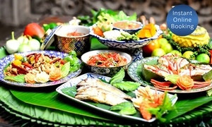 Tamra Siam: Three-Course Thai Dinner with Drinks for Two ($39) or Six People ($109) at Tamra Siam, Carlton (Up to $269 Value)