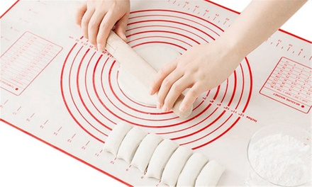 Large Non-Stick Silicone Baking Mat with Measurements: One ($14) or Two ($22)