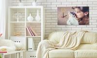 Toile photo avec horloge, formats au choix dès 29,90 € avec Foticos (49% de réduction)