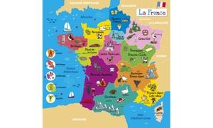 Puzzle en bois France 21 pièces