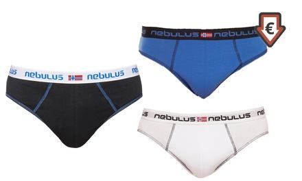 3er-Pack Nebulus Herrenslip Holly oder Miami in der Farbe nach Wahl