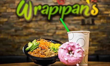 Menú para 2 o 4 personas con poke, wrap o burrito, postre y bebida en Wrapipans Atocha (hasta 58% de descuento)