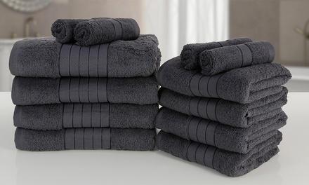 Lots de serviettes au choix 100% coton, nuances de gris