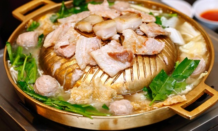 AYCE Hot Pot and BBQ Buffet with Drinks for Two $49 or Four People $85 at Eat All You Can BBQ Hut Up to $131.60