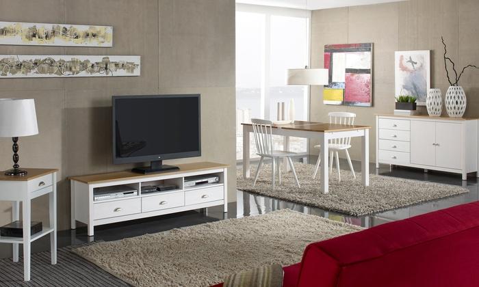 Table Bassemeuble Tvbuffet Bas Groupon Shopping