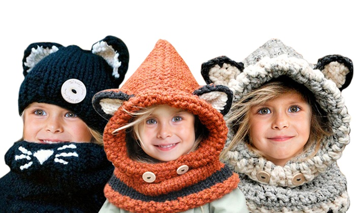 0033269bf Up To 56% Off on Kids Knitted Hat and Scarf | Groupon Goods
