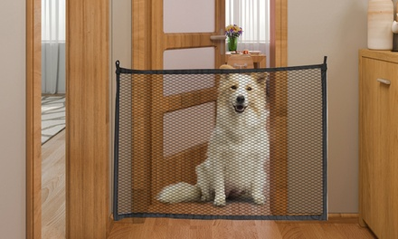 One or Two Portable Mesh Pet Gates with Fixings