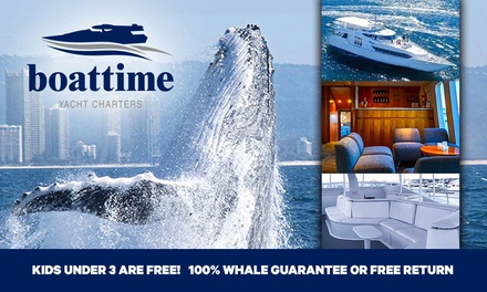 2.5-Hr Whale Cruise: 1 Child 3-13 ($49), or 1 ($59), 2 ($114) or 4 Adults ($209) with Boattime Luxury Yacht Charters