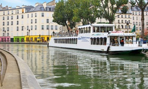 Paris canal: 1 ou 4 places (2 adultes et 2 enfants) pour une croisière de 2h30 sur le canal Saint-Martin dès 12,90 € avec Paris Canal