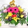 Blumenstrauß mit Schokohase
