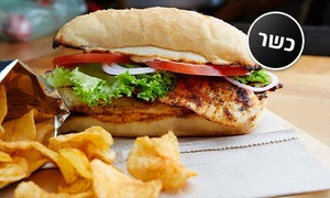 עולם האוכל: מסעדת עולם האוכל: רק 25 ₪ ליחיד או 49 ₪ לזוג לארוחת באגט עם בשר לבחירה, צ'יפס ושתייה! גם בשישי