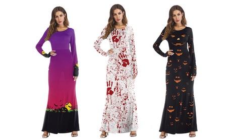 Vestido largo de Halloween para mujer