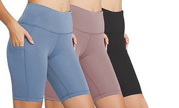Women's 3-Pack High-Waist Bicycle Shorts. Plus Sizes Available.