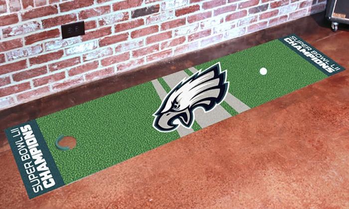 NFL Philadelphia Eagles Super Bowl 52 Champions Golf Putting Green Mat ...