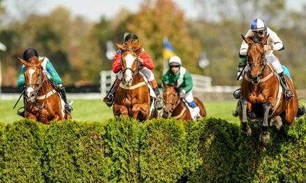International Gold Cup Steeplechase Racing on Saturday, October 28, at 10 a.m.