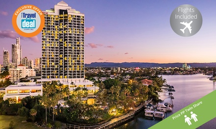 Surfers Paradise: Per Person for a 5Night Getaway with Flights at Surfers Paradise Marriott Resort & Spa