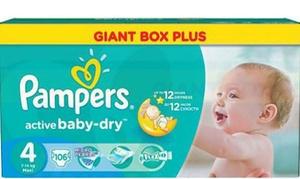 Bébé Discount :  Pampers NewBaby, Active Fit,  ou Active Baby Dry, taile au choix dès 19,90 € avec Bébé Discount