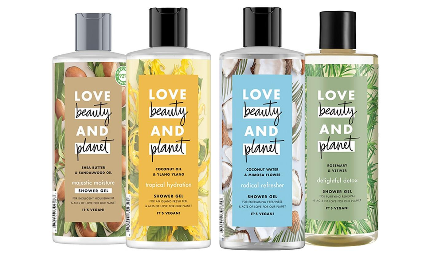 Three-Pack of Love Beauty and Planet Shower Gel 500ml