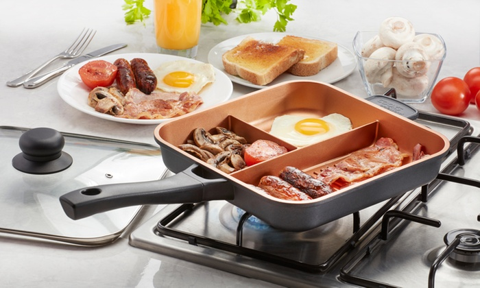 Three Section Copper Frying Pan Groupon Goods