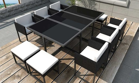 VidaXL 21-, 27- or 33-Piece Outdoor Dining SetWith Free Delivery