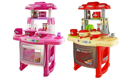 Kids' Mini Kitchen Playset with Light and Sound