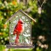 Embossed Cardinal Bird Feeder