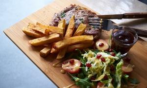 Chef Burger: Dwa steki Ribeye 250 g podane z frytkami, sałatką i sosem za 54,99 zł i więcej w restauracji Chef Burger (do -34%)