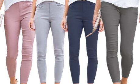 Reflection Women's Stretchy Pull-On Jeggings. Plus Sizes Available.