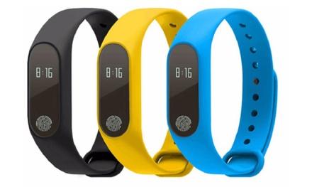 M2 Fitness Tracker mit Pulsmesser in Schwarz, Gelb oder Blau inkl. Versand
